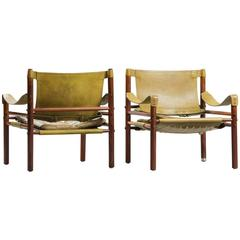 Pair of Sirocco Safari Chairs by Arne Norell