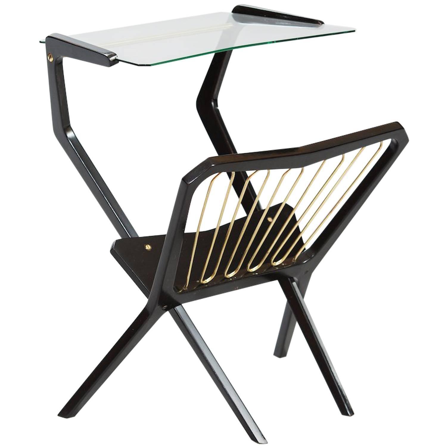 Italian Table with Magazine Rack