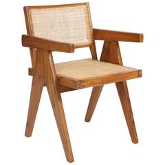 "Pierre Jeanneret Armchair Called ""Office Cane Chairs"""