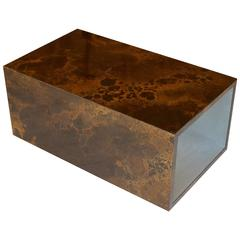 1970s GUY LEFEVRE End Sofa Bronze Color Lacquer