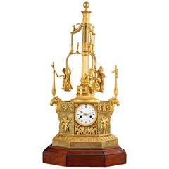 Rare Empire Ormolu Automaton Carousel Clock, Vaillant, Paris, circa 1805