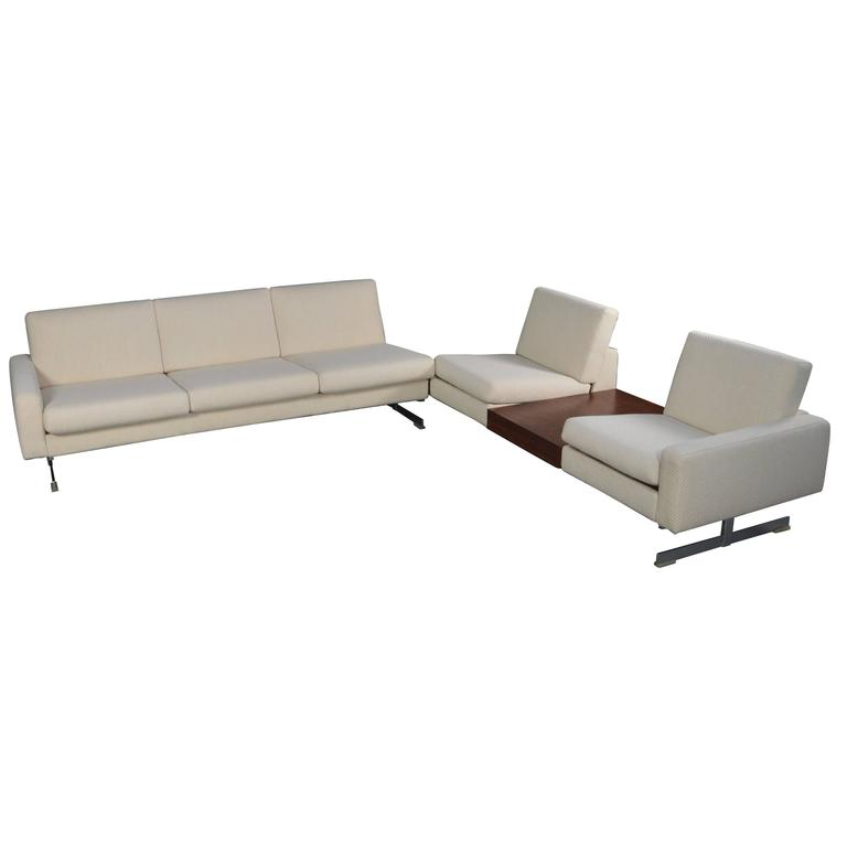 Rolf Benz 1st Edition Pluraform Sofa with Rosewood Coffee Tables, 1964
