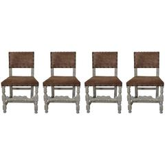 Set of Four Antique 17th Century Style Dining Chairs