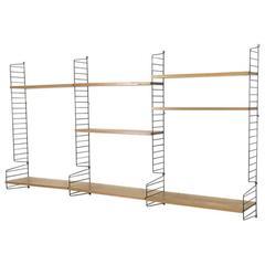 Original 1960s String Wall Unit by Nisse Strinning for String Design, AB Sweden