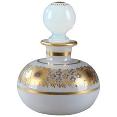 White Opaline Crystal Perfume Bottle by Jean-Baptiste Desvignes