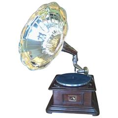 """""""His Master's Voice"""" Wind Up Gramophone"""