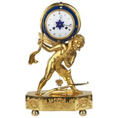 """Unique Table Clock """"Cupid as a Ruler of the Universe"""", France, circa 1800-1810"""
