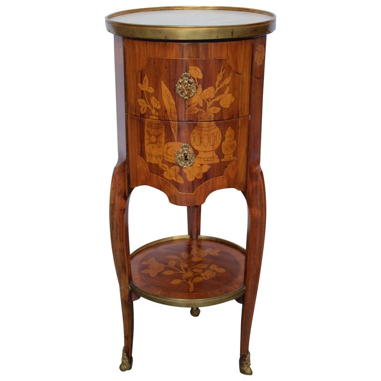"18th Century French ""Tambour"" Shaped Side Table 1"