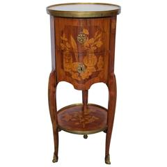"18th Century French ""Tambour"" Shaped Side Table"