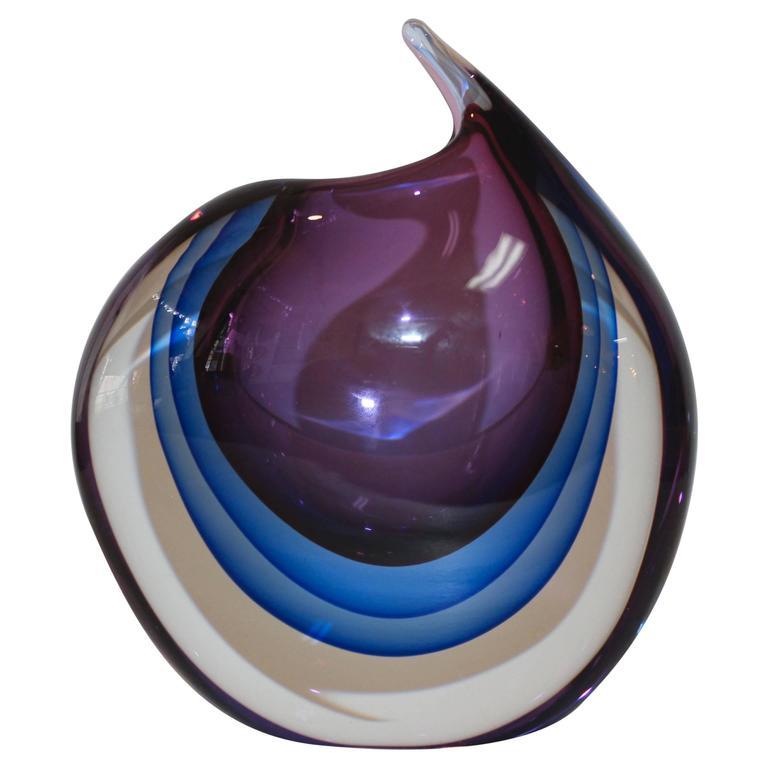 1970's Modernist Murano Vase For Sale