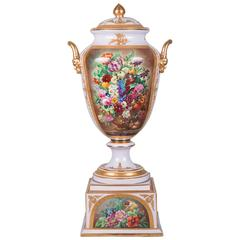 Royal Vienna Pomp Porcelain Vase with Cover and Stand, circa 1900