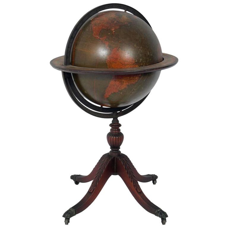 Antique Library Globe For Sale