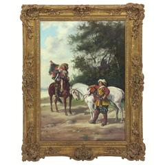19th Century Oil on Canvas by H Markham