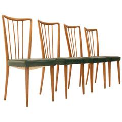 Four 1950s Italian Vintage Dining Chairs