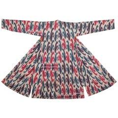 19th Century Silk and Cotton 'Adras' Chapan / Coat from Bukhara Uzbekistan