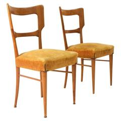 Two 1950s Italian Mid-Century Dining Chair