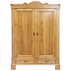Large 19th Century Biedermeier Armoire in Pine