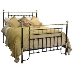 Brass and Iron Decorative Bed in Black MK99
