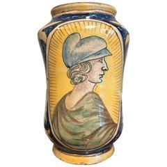 Italian Maiolica Drug Jar Albarello