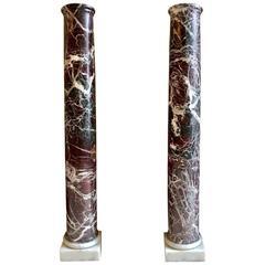 Pair of Italian Marble Columns