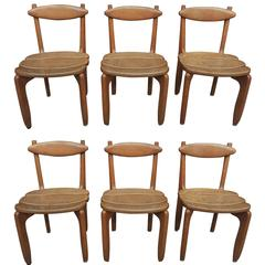 "Guillerme & Chambron Set of Six Dining Chairs ""Thierry"", Edition Votre Maison"