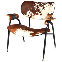 Gastone Rinaldi for RIMA Lounge Chair with new cowhide, Italy, 1950s
