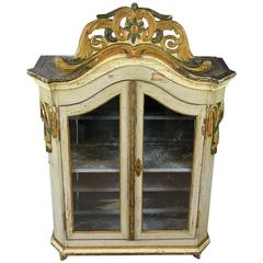 18th Century Swedish Rococo Glazed Cabinet in Original Paint