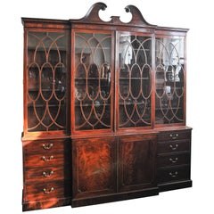 George III Period Library Breakfront Bookcase