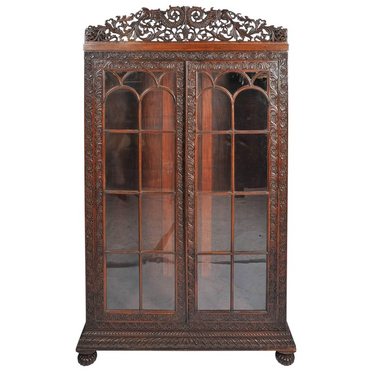 Anglo-Indian Bookcase For Sale