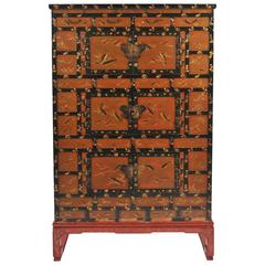 Japanese Meiji Period Lacquer Cabinet