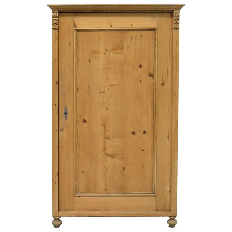 Small 19th century austrian armoire in pine for sale at for 50cm deep kitchen units
