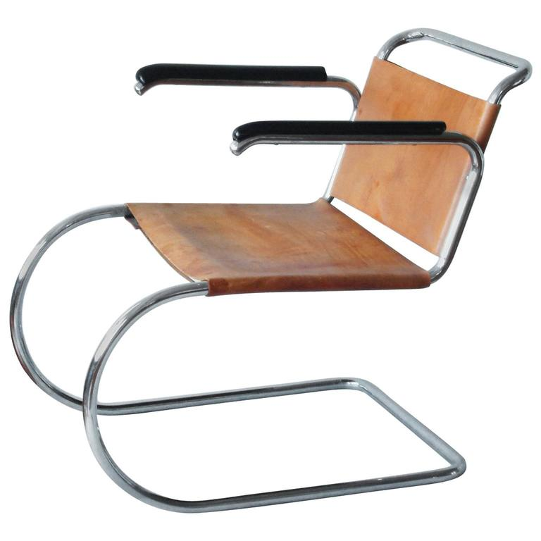 Perfect Cantilever MR Armchair Prototype By Mies Van Der Rohe, Berlin, Circa 1931  For