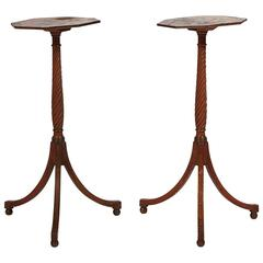 Early 19th Century Regency Pair of Chinoiserie Lacquered End Tables