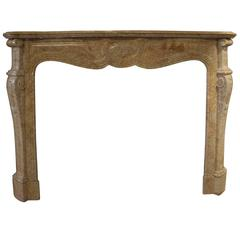 Wonderful 19th Century Louis XV Mantel in Trets Marble