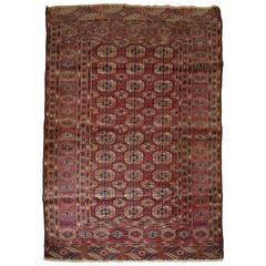 Antique Tekke Turkmen Rug of Excellent Design and Color