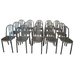 Mallet Steven Vintage Stackable Metal Chairs, 1940