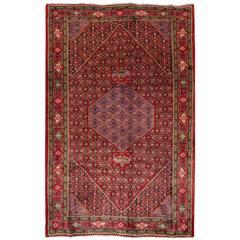 Vintage Colorful Persian Bidjar  Rug  6'.7 x 10'.2