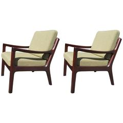 Pair of Senator Armchairs, Model 166, by Ole Wanscher for Cado of Denmark