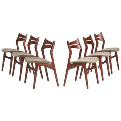 Dining Chairs, Set of Six by Erik Buck