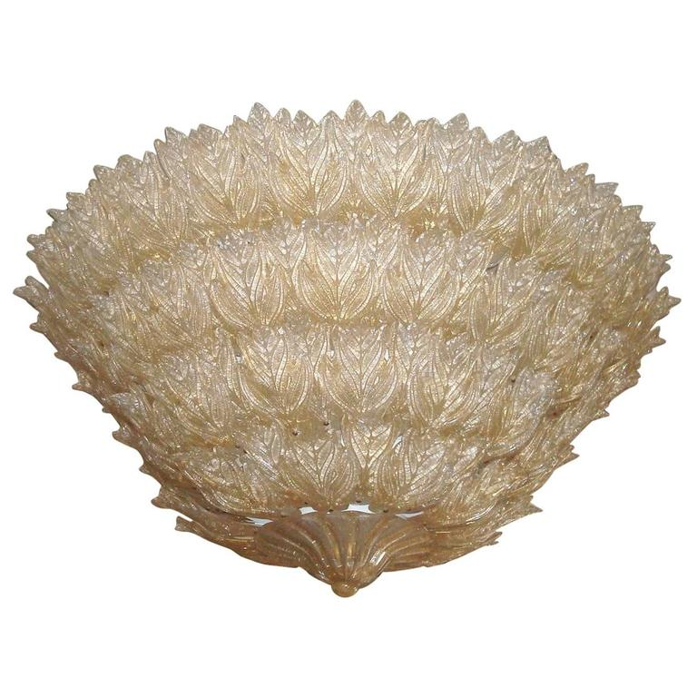 Majestic Murano Ceiling Light by Barovier & Toso, circa 1970's
