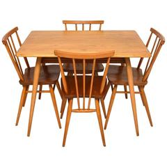 Retro Elm Dining Table & Chairs by Ercol Vintage, 1960s