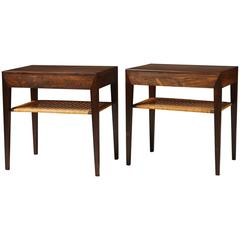 Pair of Bedside or Lamp Tables Designed by Severin Hansen for Haslev, Denmark