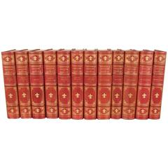 Rare Limited Edition of 24 Volumes of the Works of Theophile Gautier in English