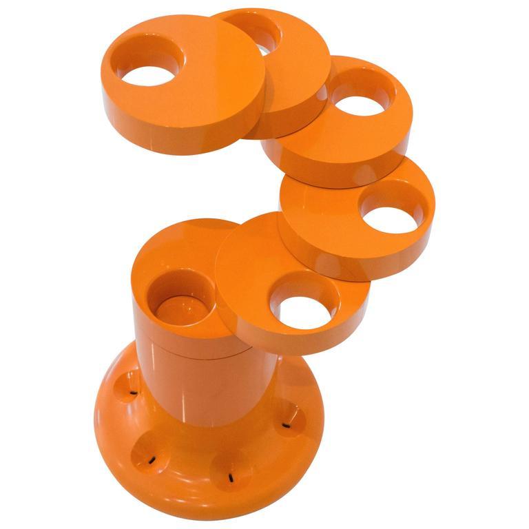 Pluvium Umbrella Stand in Orange 1