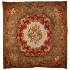 19th Century French Hand Knotted Wool Carpet