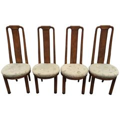 Set of Four High Back Henredon Dining Chairs