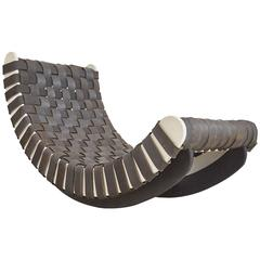 Leo Kempf 'Tired Lounge' Woven Car Tires Rocker or Lounger