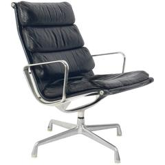 Soft Pad Leather Chair Designed by Charles and Ray Eames for Herman Miller