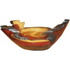 Rare Sculptural Live Edge Brazil Wood Bowl