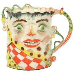 Rare Large Figural Porcelain Mug by Irina Zaytceva
